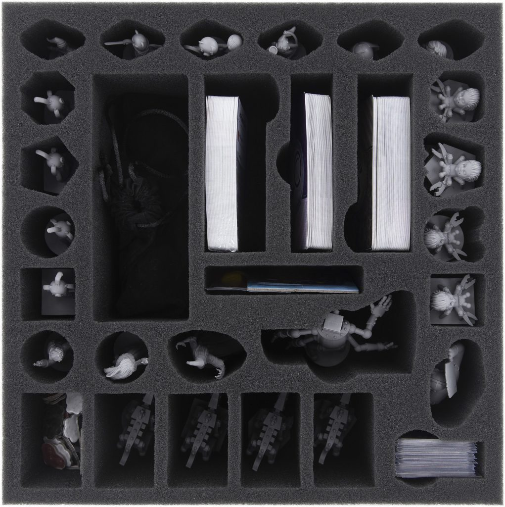 Stuffed Faibles boardgame in box with sorter foam